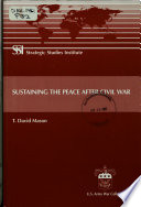 Sustaining the Peace After Civil War Book PDF