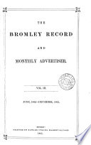 The Bromley Record and Monthly Advertiser