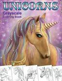 Unicorns  Grayscale Coloring Book