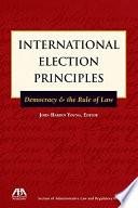 International Election Principles