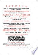 Istoria dell'antichissimo oratorio o cappella di San Lorenzo nel Patriarchìo lateranense
