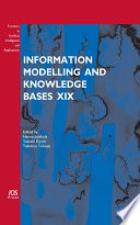 Information Modelling and Knowledge Bases XIX