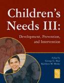 Children s Needs III
