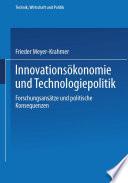 Innovationsökonomie und Technologiepolitik