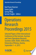 Operations Research Proceedings 2015
