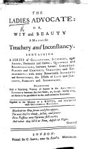 download ebook the ladies\' advocate; or, wit and beauty a match for treachery and inconstancy. containing a series of gallantries, intrigues and amours ... digested in the manner of a novel, and interspersed with occasional remarks pdf epub