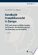 Immobilienrecht in Europa