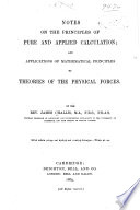 Notes On The Principles Of Pure And Applied Calculation