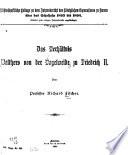 Das verhältnis Walthers von der Vogelweide zu Friedrich II.