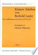 Kleinere Schriften: Publikationen aus der Zeit von 1911 bis 1925. 2 v