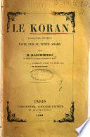 Le Koran traduction nouvelle faite sur le texte arabe par M. Kasimirski