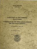 Official gazetteer of place names