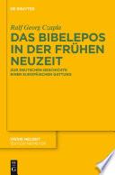 Das Bibelepos in der Frühen Neuzeit