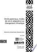 Droits pastoraux, modes de vie et adaptation au changement climatique