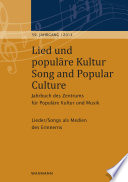 Lied und popul  re Kultur   Song and Popular Culture 59  2014