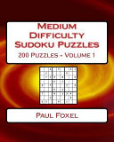 Medium Difficulty Sudoku Puzzles Volume 1
