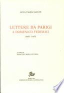 Lettere da Parigi a Domenico Federici  1683 1687