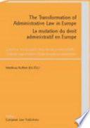 La Mutation Du Droit Administratif en Europe