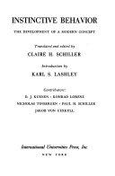 Instinctive Behavior