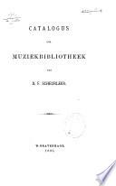 Catalogus der muziekbibliotheek van D.F. Scheurleer