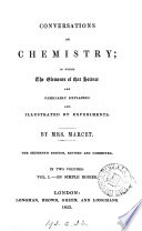 Conversations on chemistry  by J  Marcet   By mrs  Marcet