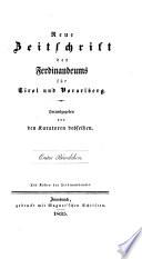 Zeitschrift des Ferdinandeums fur Tirol und Vorarlberg