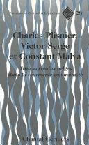 Charles Plisnier  Victor Serge Et Constant Malva