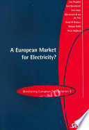 A European Market for Electricity