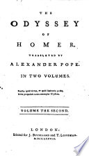 The Odyssey of Homer  Translated by Alexander Pope  Etc