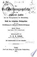 Die Verwaltungsgesetze für des Königreich Sachsen seit der Reorganization der Verwaltung