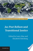 Jus Post Bellum and Transitional Justice