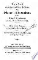 Versuch einer topographischen Geschichte der Pfarrei Roggenburg