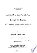 Hymns of the Church arranged for chanting     by William Henry Monk   Second edition