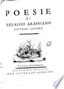 Poesie di Zelalgo Arassiano pastore arcade