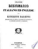 Grande dizionario italiano ed inglese