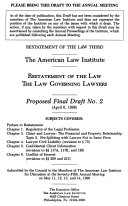 Restatement of the law  the law governing lawyers