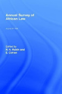 Annual Survey of African Law
