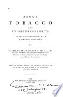 About Tobacco and Its Deleterious Effects