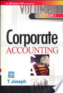 Corporate Accounting  Vol 1