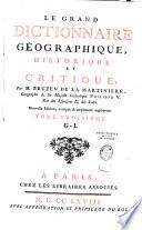 Le Grand Dictionnaire g  ographique historique et critique  Livre