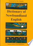 Dictionary of Newfoundland English Book PDF
