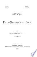 Transactions   Ottawa Field Naturalists  Club