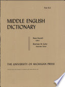 Middle English Dictionary : ...