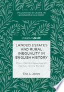 Landed Estates and Rural Inequality in English History