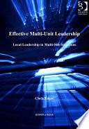 Effective Multi Unit Leadership