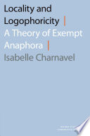 Locality and Logophoricity
