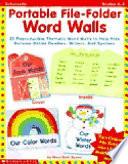 Portable File Folder Word Walls
