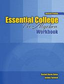 Essential College Pre algebra