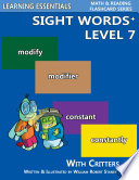 Sight Words Plus Level 7  Sight Words Flash Cards with Critters for Grade 3   Up