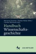 Handbuch Wissenschaftsgeschichte